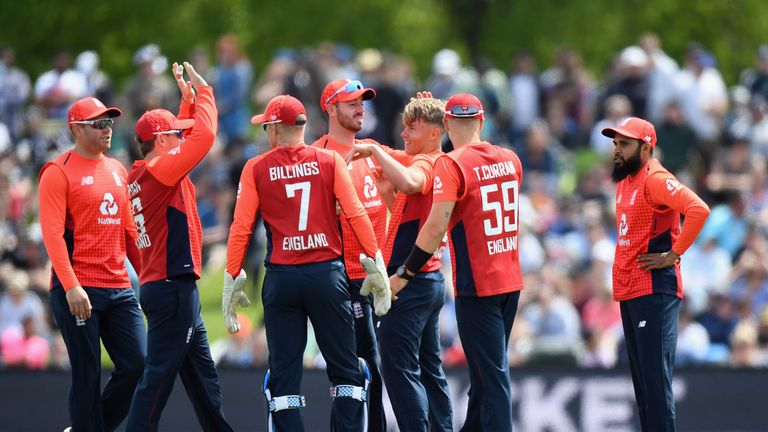 Sam Curran dismissed Martin Guptill early on in the first T20 international