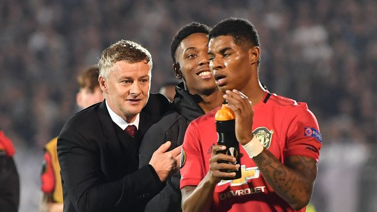 Manchester United manager Ole Gunnar Solskjaer believes Anthony Martial has helped Marcus Rashford's return to form