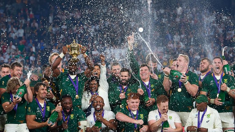 The Springboks are defending champions after beating England in the final in Tokyo last year