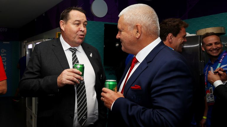 New Zealand-born Gatland (right) is in  the running to take over after leaving Wales