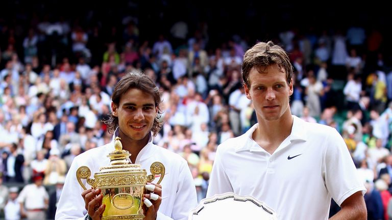 Berdych defeated Roger Federer and then Novak Djokovic back-to-back before being beaten by Rafael Nadal at Wimbledon in 2010
