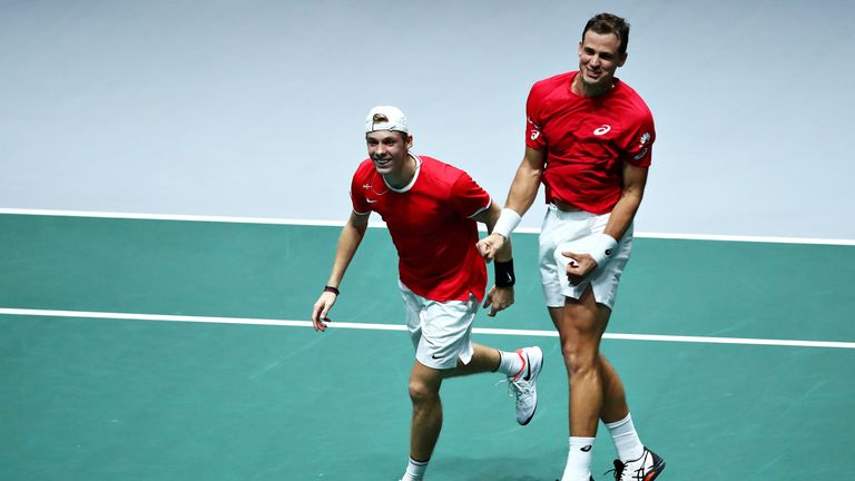 Vasek Pospisil and Denis Shapovalov helped Canada reach the semi-finals of the Davis Cup