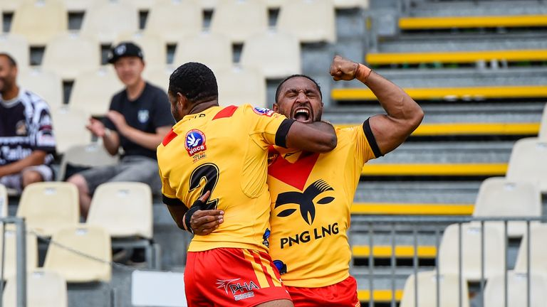 Watson Boas' try early in the second half set Papua New Guinea on course for victory over the Lions