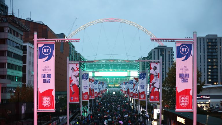 Wembley will host the semi-finals and the final at Euro 2020