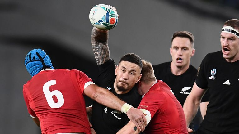Sonny Bill Williams' offloading and power in defence was outstanding