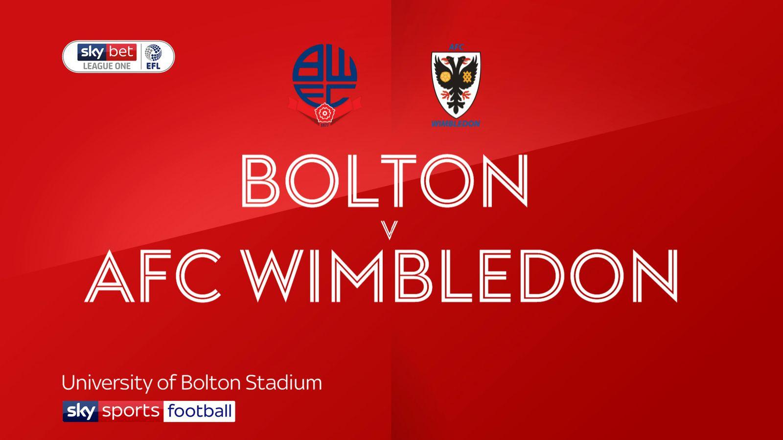 Bolton 2-2 AFC Wimbledon: Late Joe Dodoo goal snatches dramatic draw
