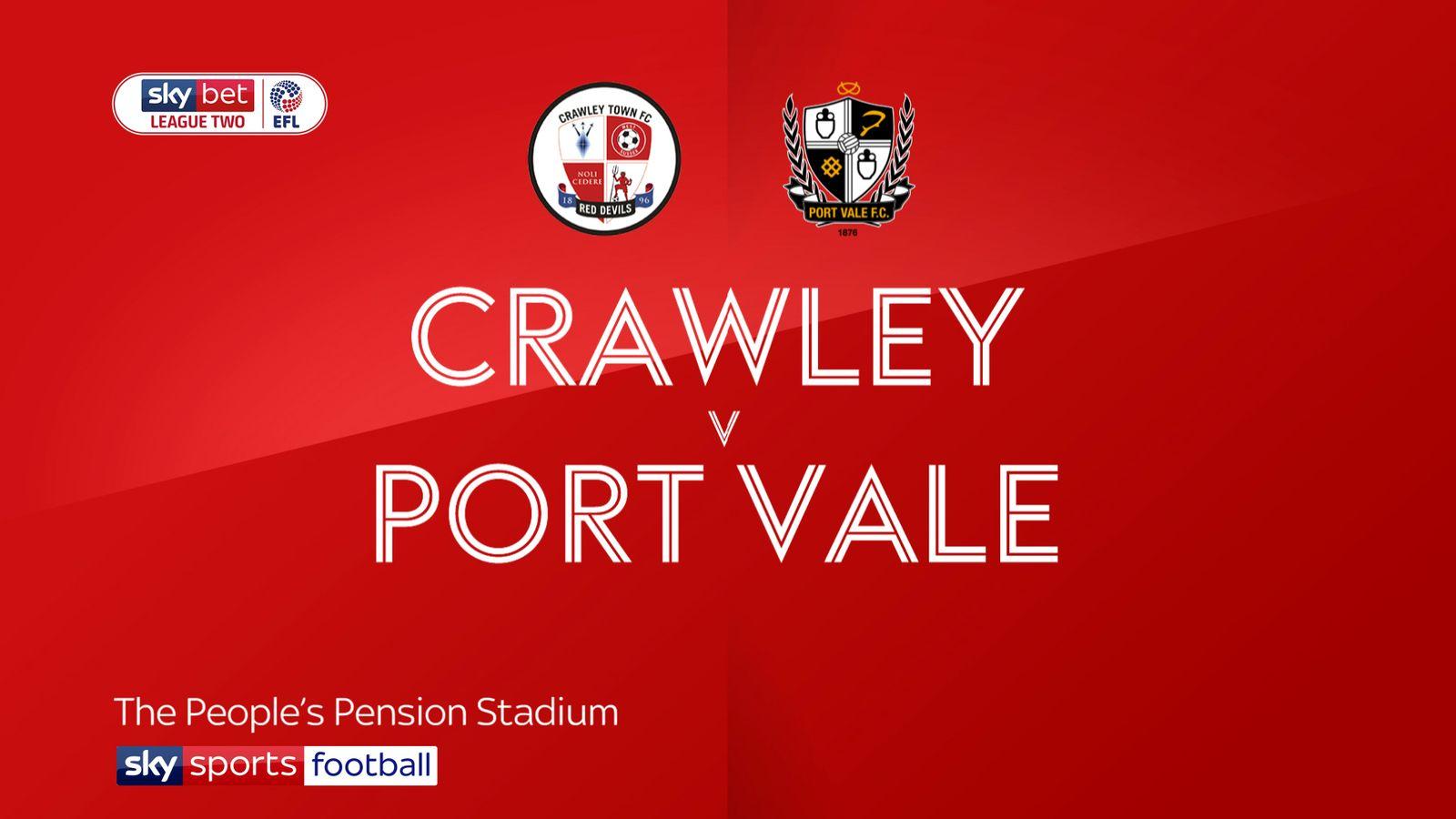 Crawley 0-0 Port Vale: Scott Brown earns Valiants stalemate