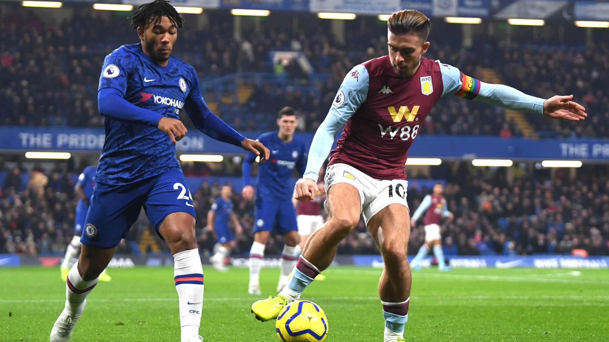 Chelsea 2-1 Aston Villa: Dean Smith says Jack Grealish is at risk of injury from persistent fouls