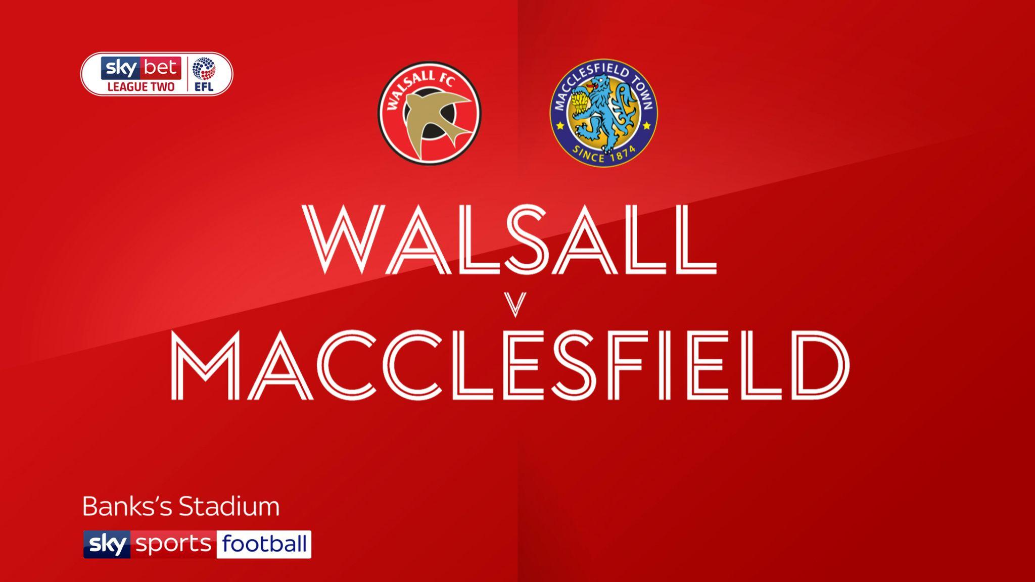 Walsall 1-1 Macclesfield: Wes McDonald denies Silkmen