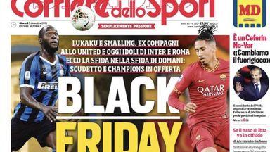 fifa live scores - Corriere dello Sport's 'Black Friday' headline leaves Romelu Lukaku's agent 'ashamed'