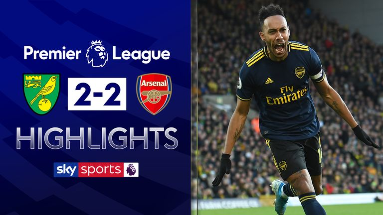 FREE TO WATCH: Highlights from Norwich's draw against Arsenal in the Premier League