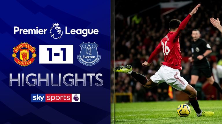FREE TO WATCH: Highlights from the 1-1 draw between Manchester United and Everton in the Premier League.