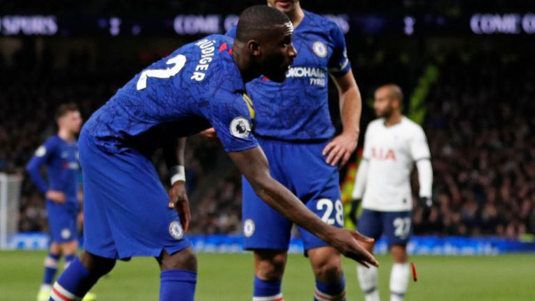 Antonio Rudiger claimed he was racially abused by Tottenham fans during Chelsea's win at Spurs last December