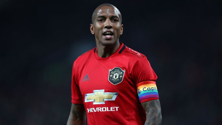 Ashley Young took the armband after Antonio Valencia left at the end of last season