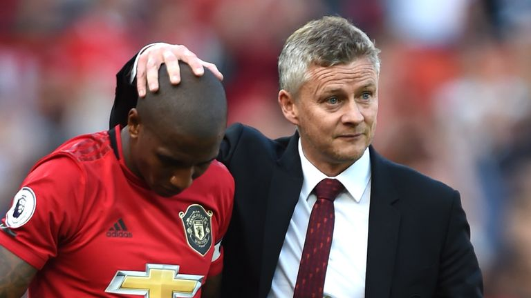 Young praised the management of Solskjaer during his year in charge