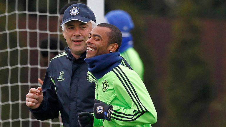Carlo Ancelotti and Ashley Cole worked together at Chelsea between 2009 and 2011
