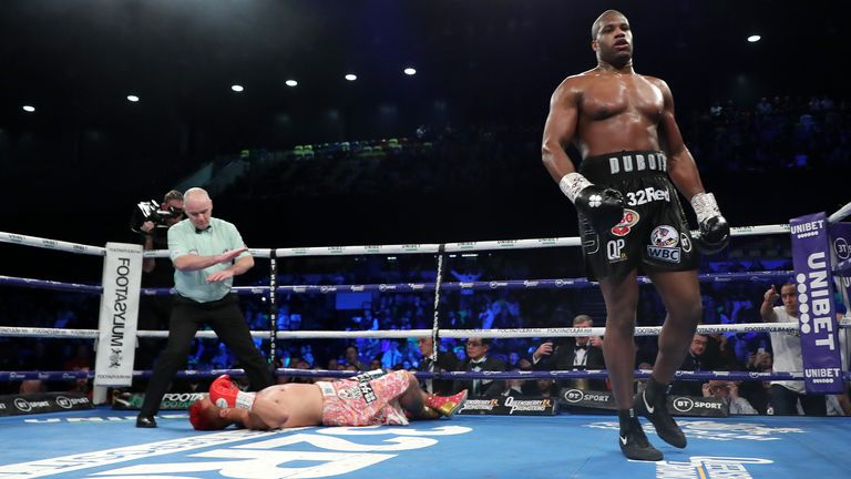 Dubois is unbeaten in 14, aged 22