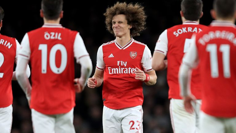 David Luiz shows his frustration during the game against Brighton
