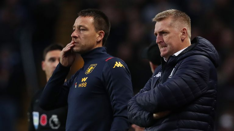 John Terry is assistant Dean Smith at Aston Villa and has been linked with the vacant Bournemouth job