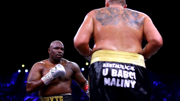 Whyte's name was cleared just one day before the fight