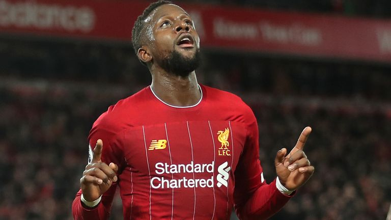 Divock Origi scored twice in Liverpool's 5-2 win