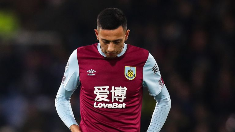 Dwight McNeil show his frustrations during Burnley's 4-1 home defeat to City