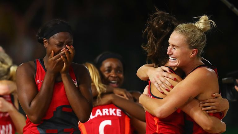 The semi-final saw England beat Jamaica by a single goal and move into their first Commonwealth Games final