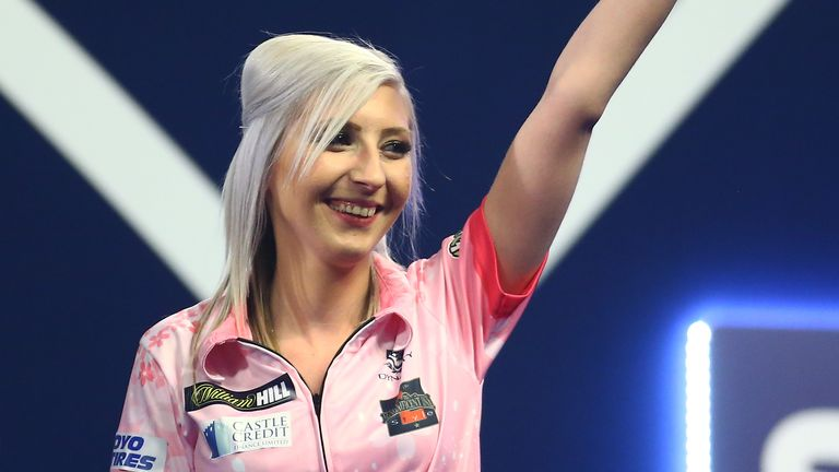 Fallon Sherrock is the first woman to win a match at the PDC World Championship