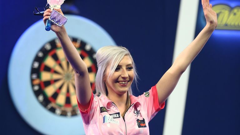 Sherrock joined the ranks of female sporting legends when she became the first woman to win a match at the World Darts Championships
