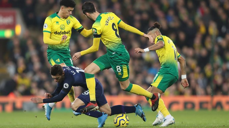 Tottenham came from behind twice to draw at Carrow Road last month