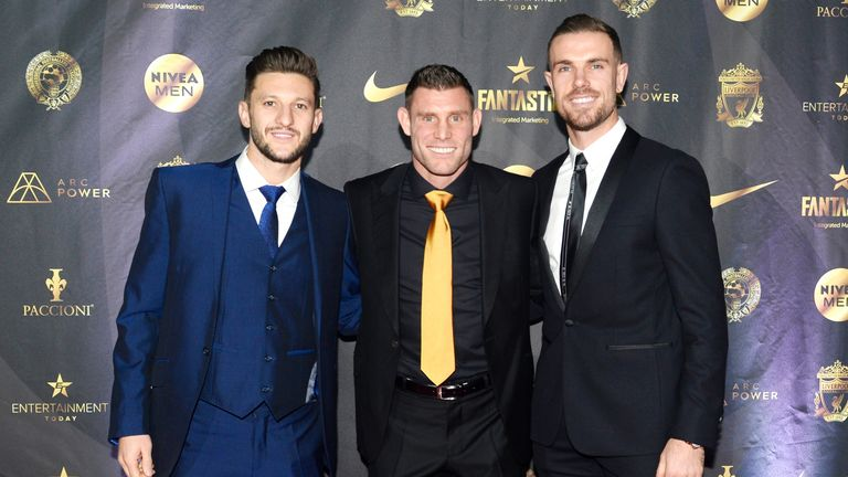 Milner was joined by Adam Lallana and Jordan Henderson at the event