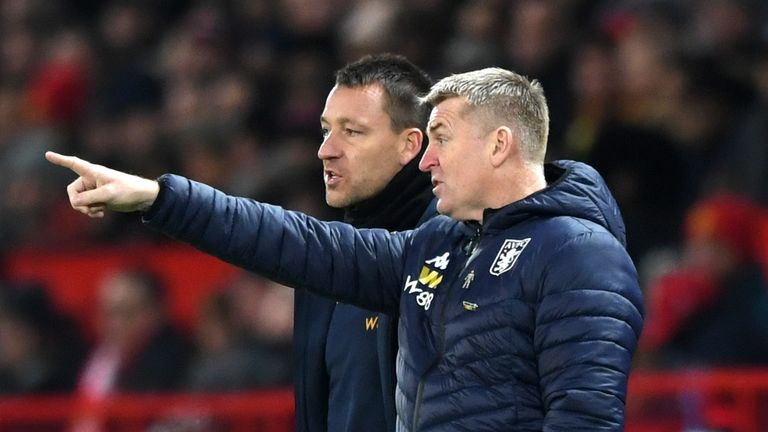 Terry has been assistant manager at Aston Villa since October 2018 alongside Dean Smith