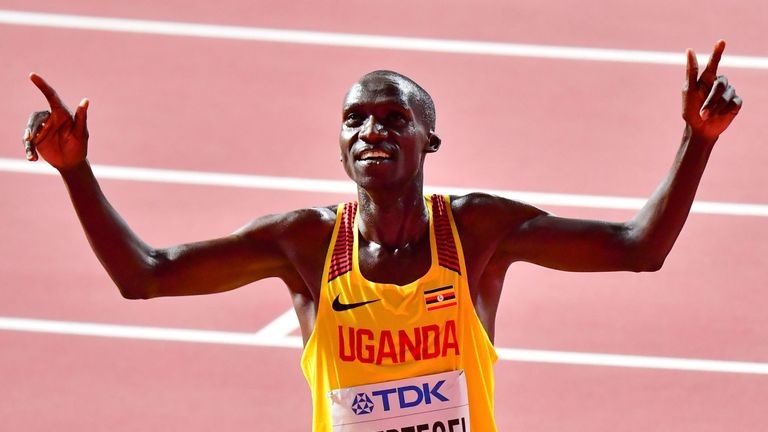 Cheptegei won the World 10,000m title in Doha in October
