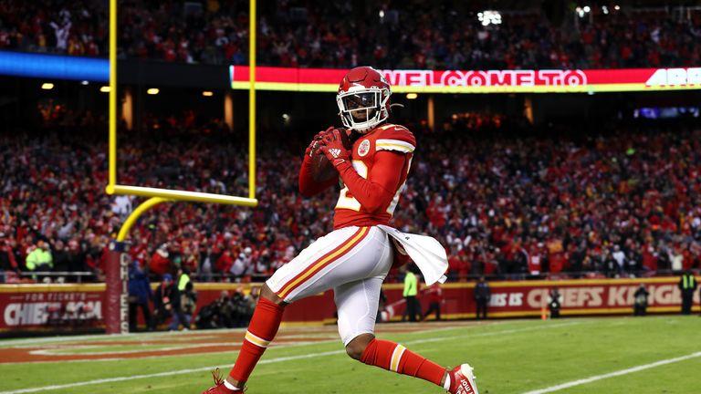 Juan Thornhill's first-half touchdown gave Kansas City a three-score lead