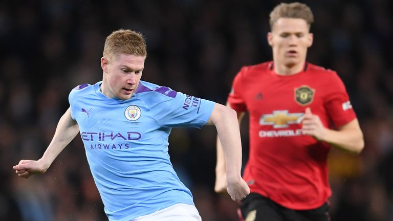 Kevin De Bruyne pressed hard for Manchester City but couldn't deliver