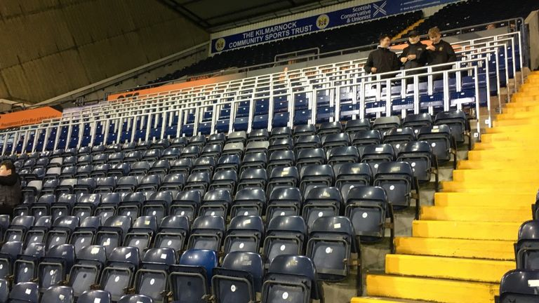 Kilmarnock's Rugby Park also has a safe standing section