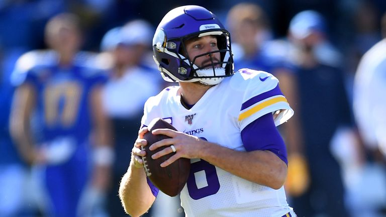 Vikings quarterback Kirk Cousins was 16 of 31 for 122 yards, one touchdown and one interception against the Packers