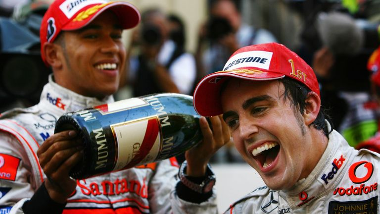 Hamilton and Alonso were team-mates at McLaren in 2007