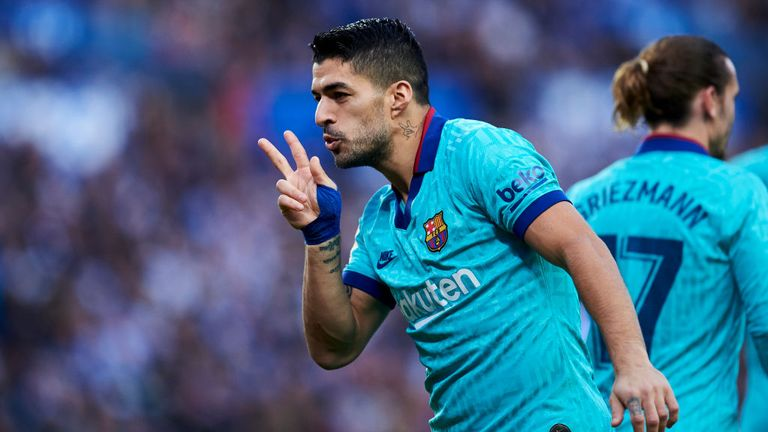 Luis Suarez gave Barcelona the lead against Real Sociedad
