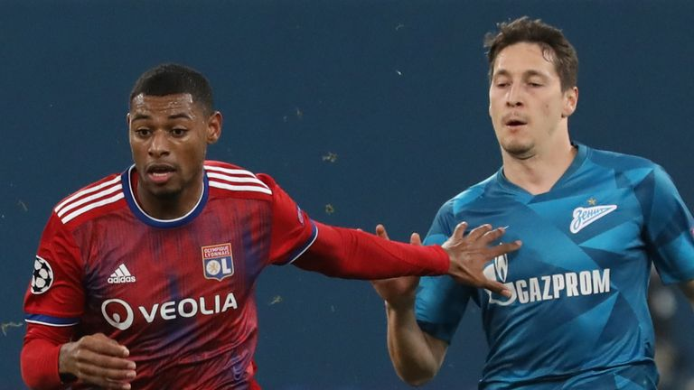 Which of Lyon or Zenit join RB Leipzig in the knockout stage?
