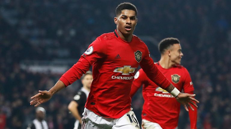 Rashford is Manchester United's top scorer this season with 19 goals in all competitions