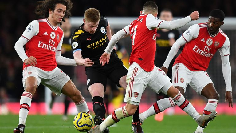 Arsenal could not contain Kevin De Bruyne on Sunday