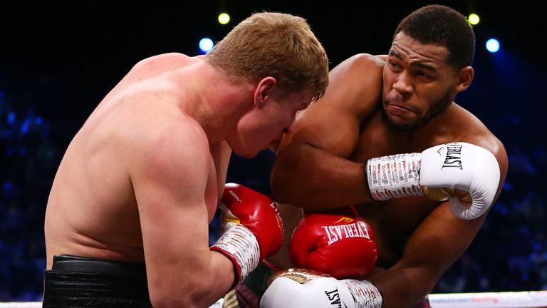 Michael Hunter battled Alexander Povetkin to a draw