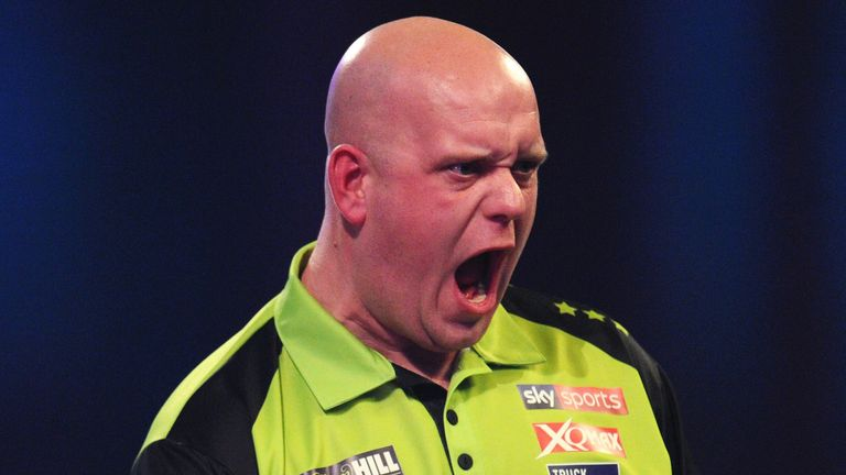 Michael Van Gerwen is looking to win the World Darts Championship for the fourth time in his career