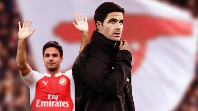 Arteta played for Arsenal between 2011 and 2016