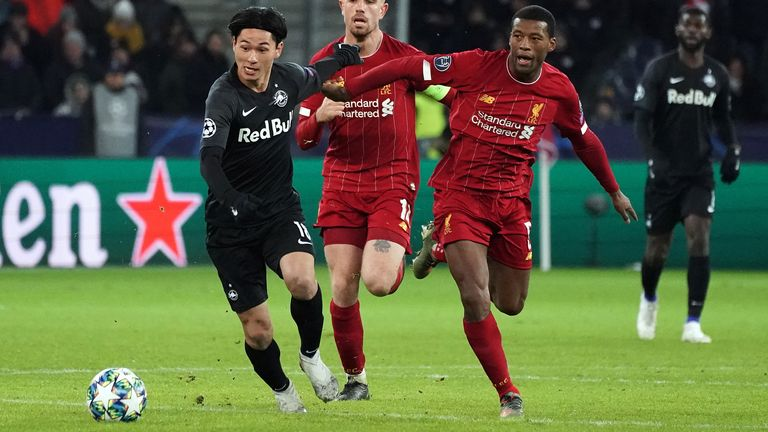 Minamino impressed in both his appearances against Liverpool in the Champions League
