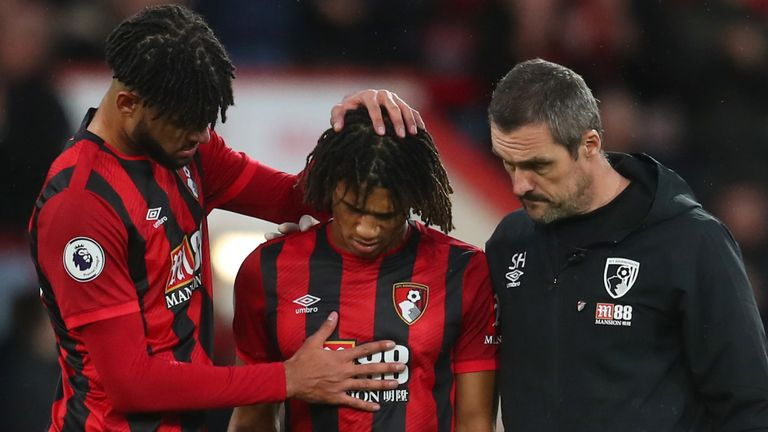 Nathan Ake was taken off after half an hour for Bournemouth