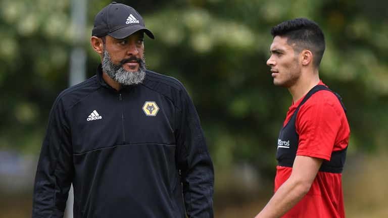 Nuno insists Wolves are 'delighted' with their star striker Jimenez