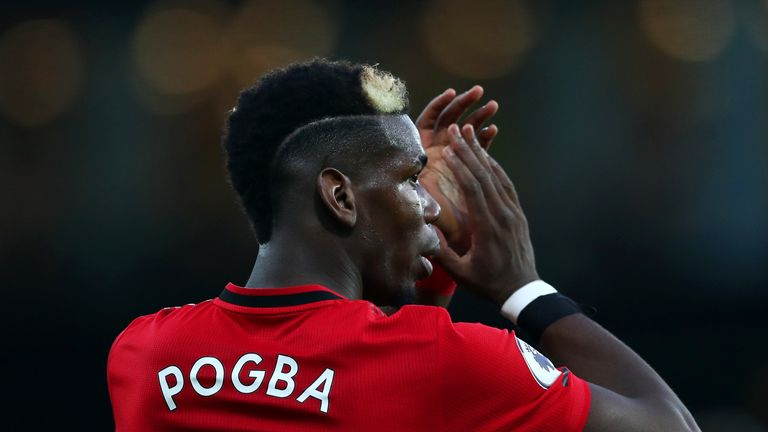 Paul Pogba made his return from injury for Manchester United against Watford