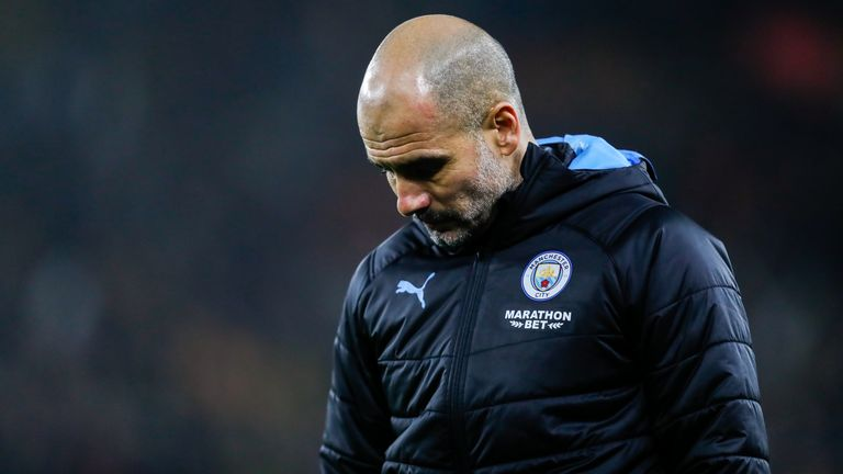 Guardiola says he has given up on the Premier League title this season